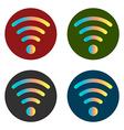 wi fi icon stickers vector image