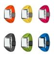 set of smart watches vector image