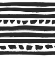 Decorative seamless pattern with handdrawn stripes vector image