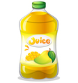 A bottle of juice vector image vector image
