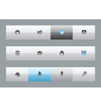 Interface buttons vector image vector image