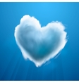 Cloud-shaped heart on a sky vector image vector image