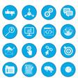 seo web icon blue vector image