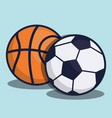 soccer equipment design vector image