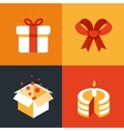 present emblems and signs vector image