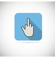 Flat finger up icon vector image vector image