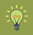 light bulb Stock vector image vector image