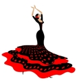 woman in red-black and flamenco vector image vector image