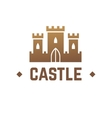 Castle logo design Knights fortress with vector image