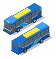 City Bus Isometric View vector image