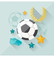concept of football in flat design style vector image