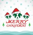 Dog merry christmas vector image