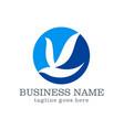 dove bird business logo design vector image