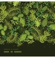 Evergreen christmas tree horizontal frame seamless vector image