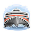 high-speed ferry catamaran vector image