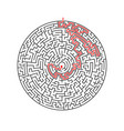 maze labyrinth greek puzzle challenge vector image