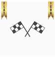 Racing flag flat icon vector image