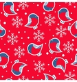 Seamless pattern New Year s background vector image