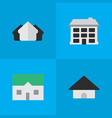 set of simple property icons elements structure vector image