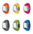 set of smart watches vector image