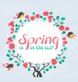 spring is in the air lettering inspirational vector image