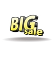 Volumetric letters big sale Isolated Black and vector image
