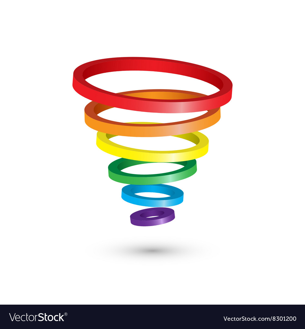 Abstract circles icon 3d design vector