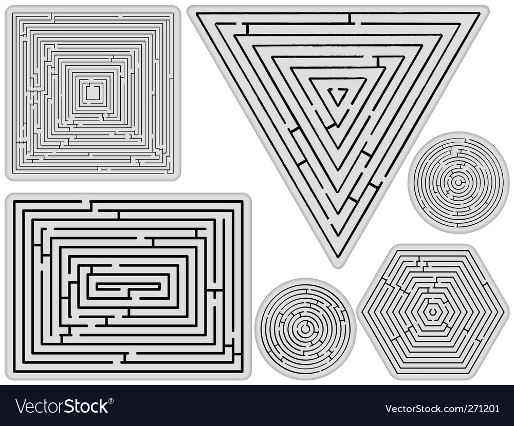 Mazes collection vector