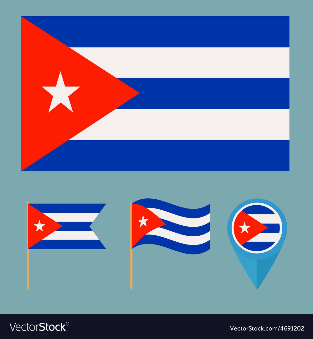 Cubacountry flag vector