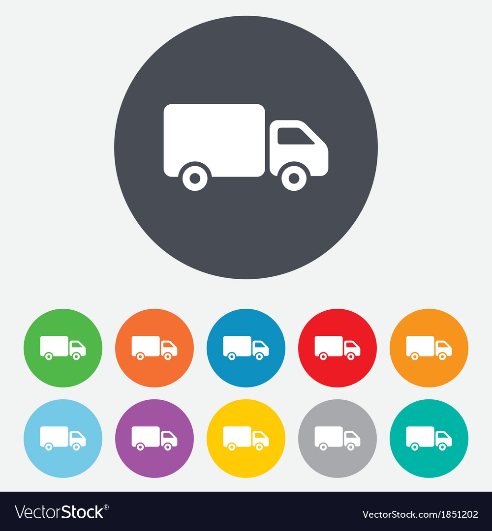 Delivery truck sign icon cargo van symbol vector