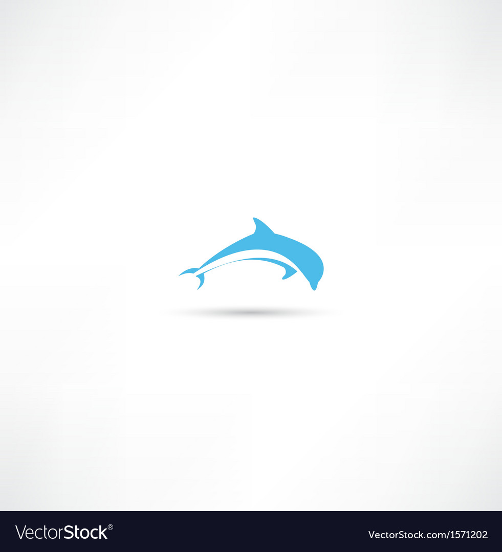 Dolphins icon vector