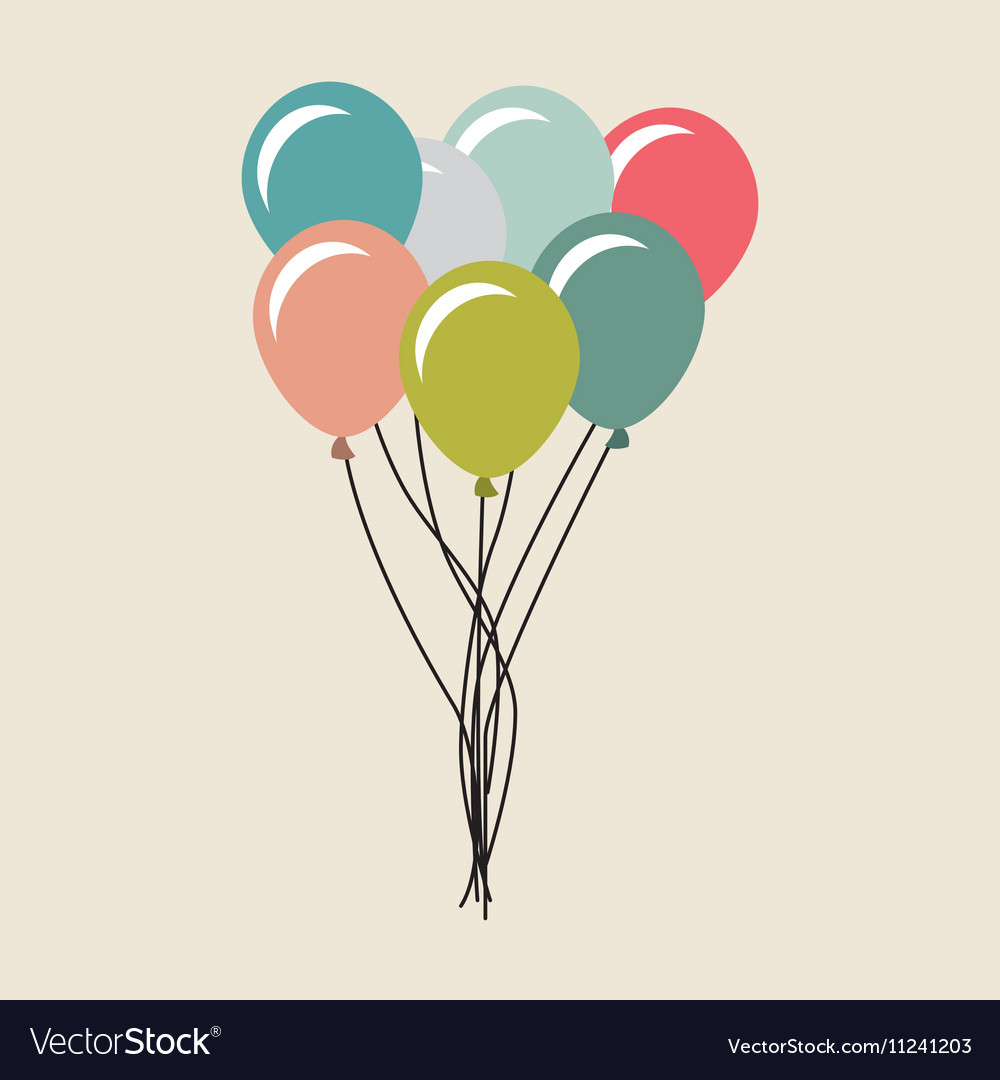 Balloons air party celebration vector