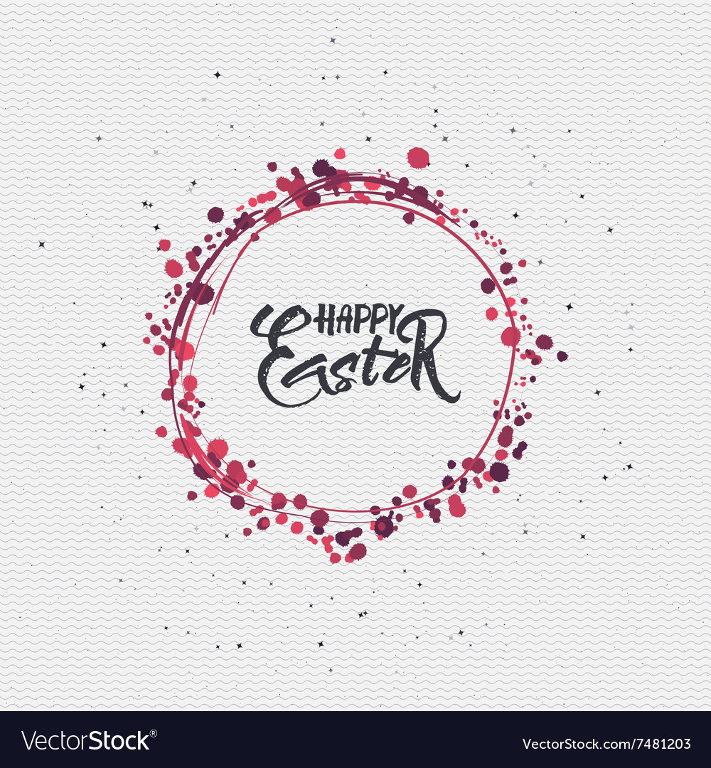 Happy easter  calligraphy typography badge it can vector