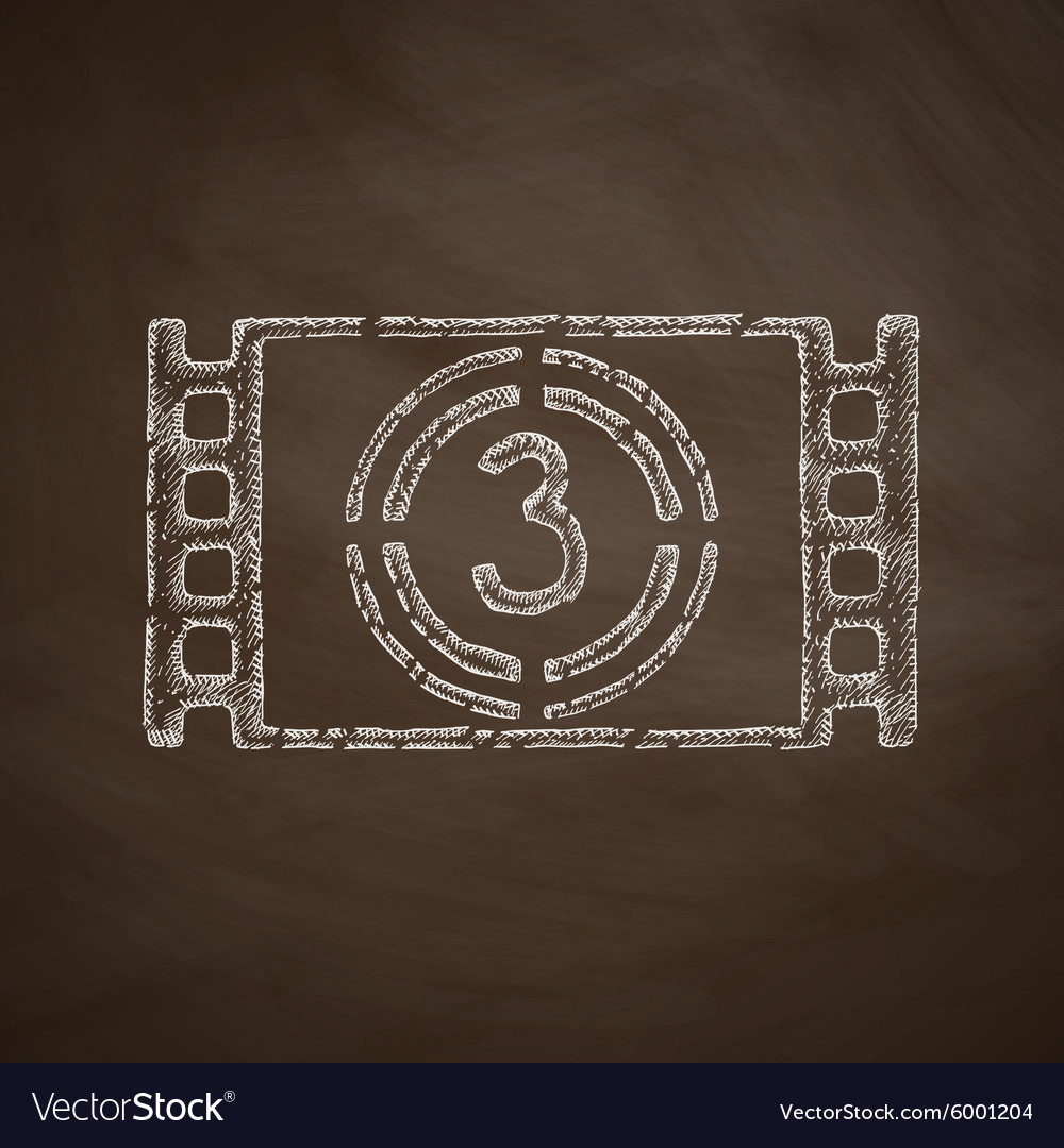 Countdown icon vector