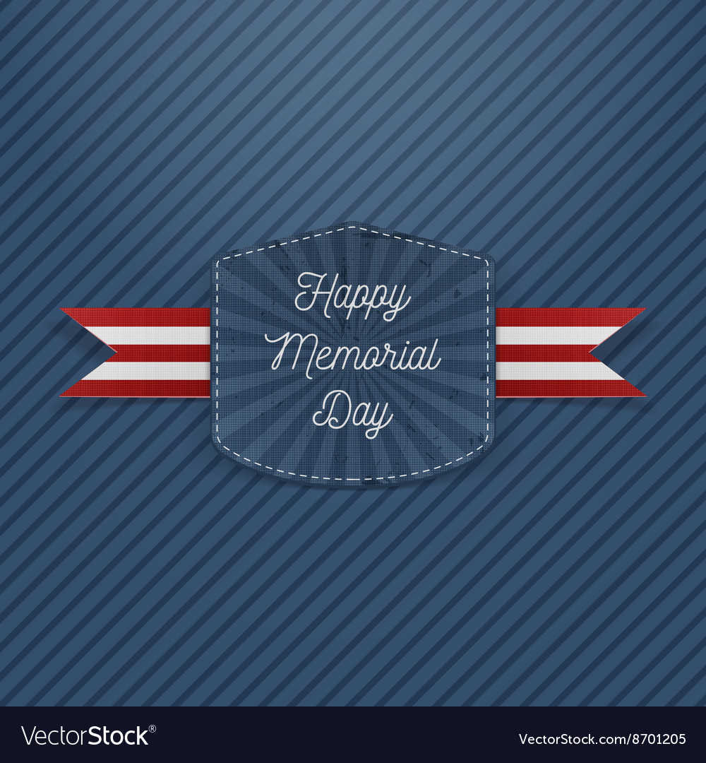 Happy memorial day holiday emblem vector