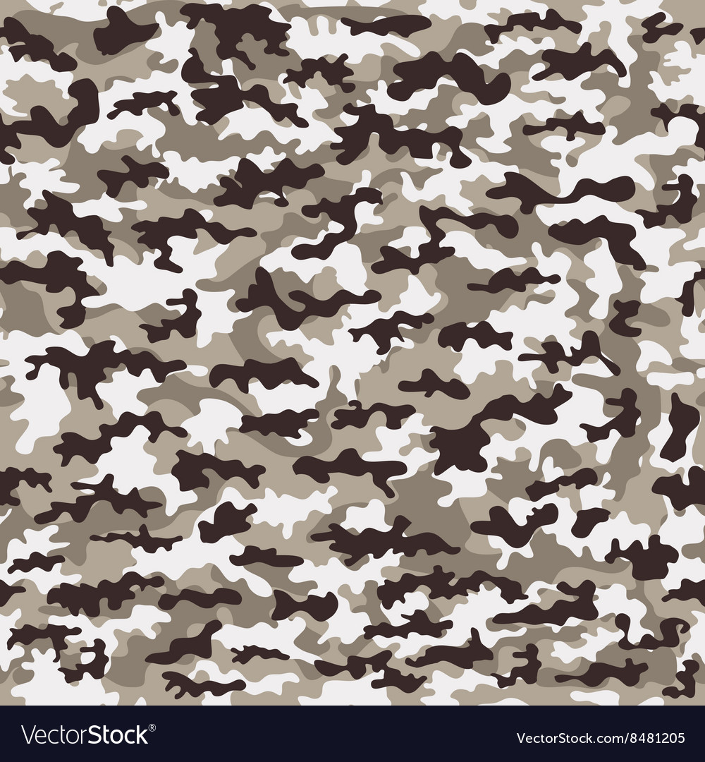 Seamless camouflage military cloth of infantry vector