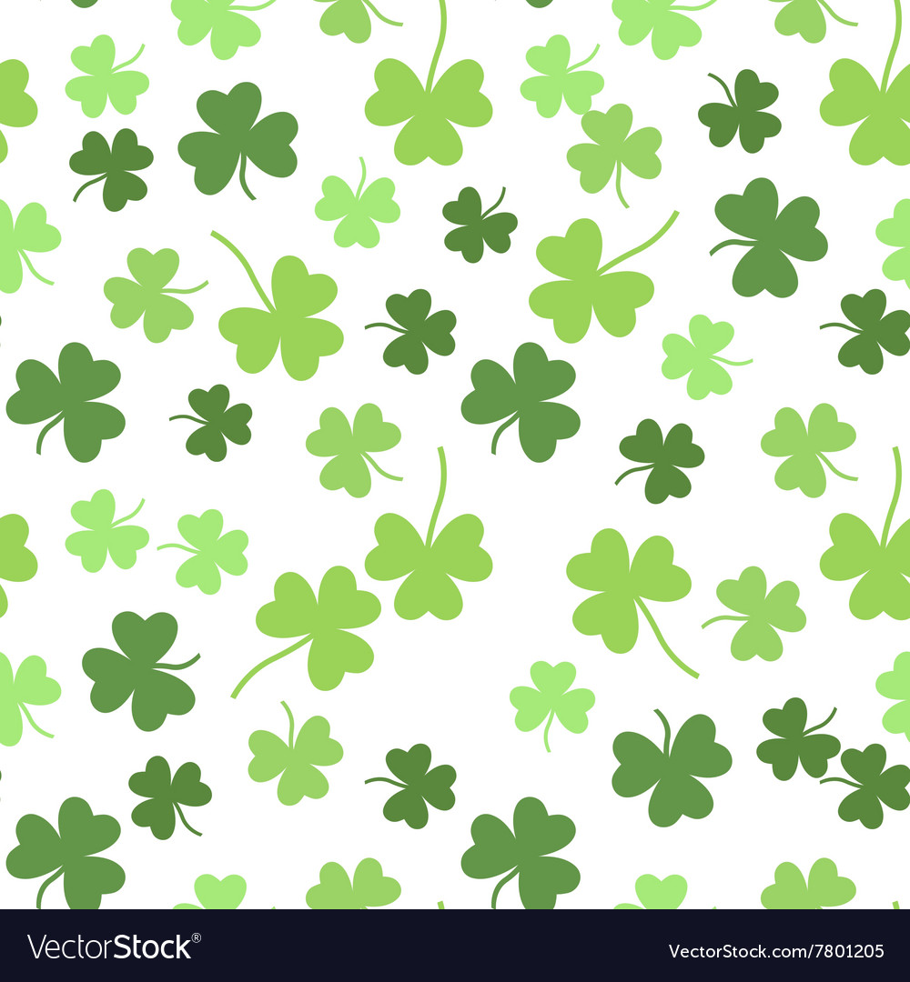 Seamless shamrock background for st vector