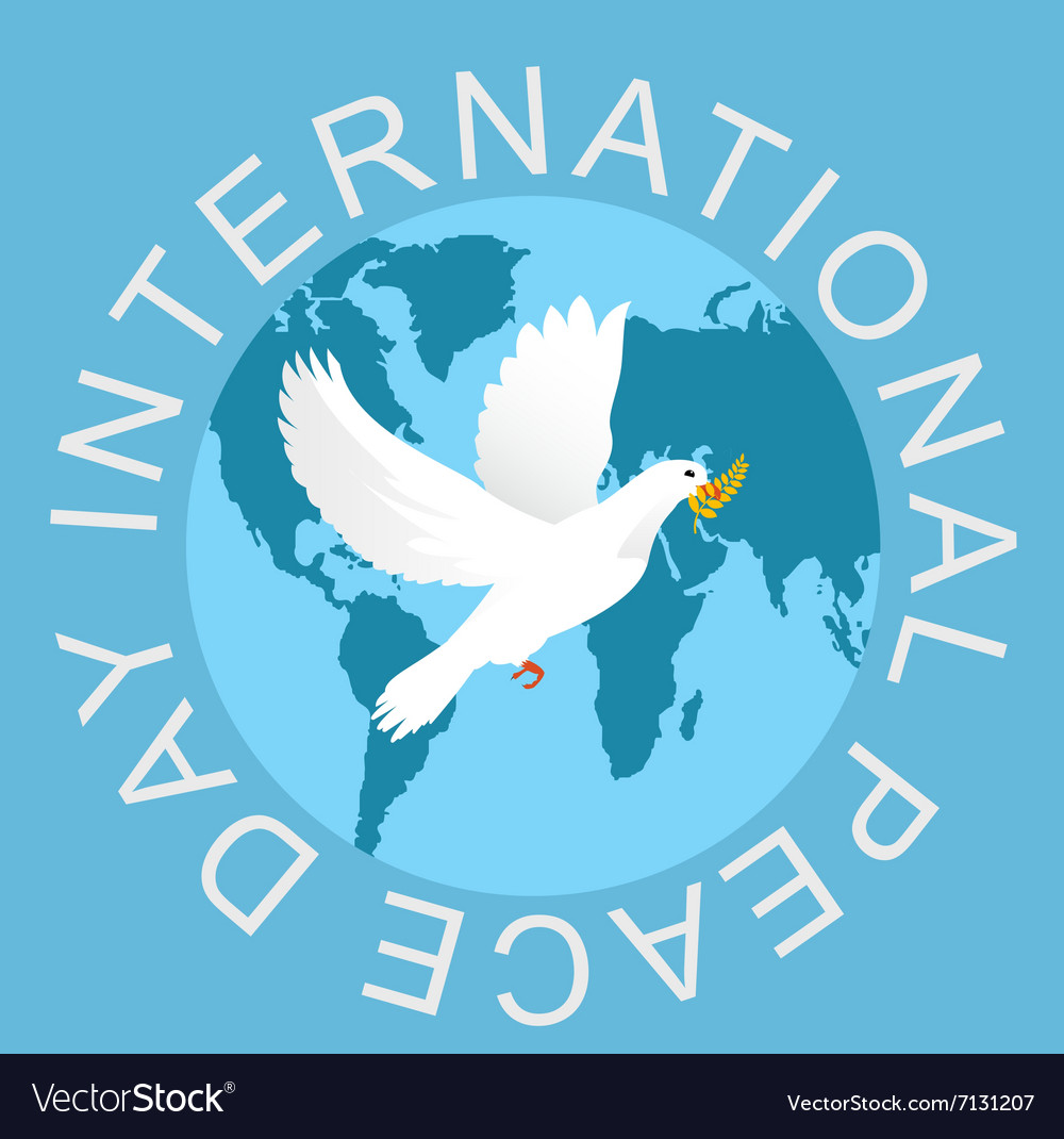 Peace day vector