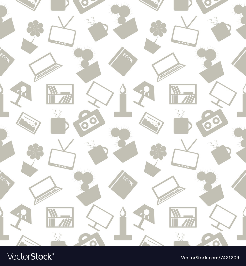Pattern elements of home decor vector