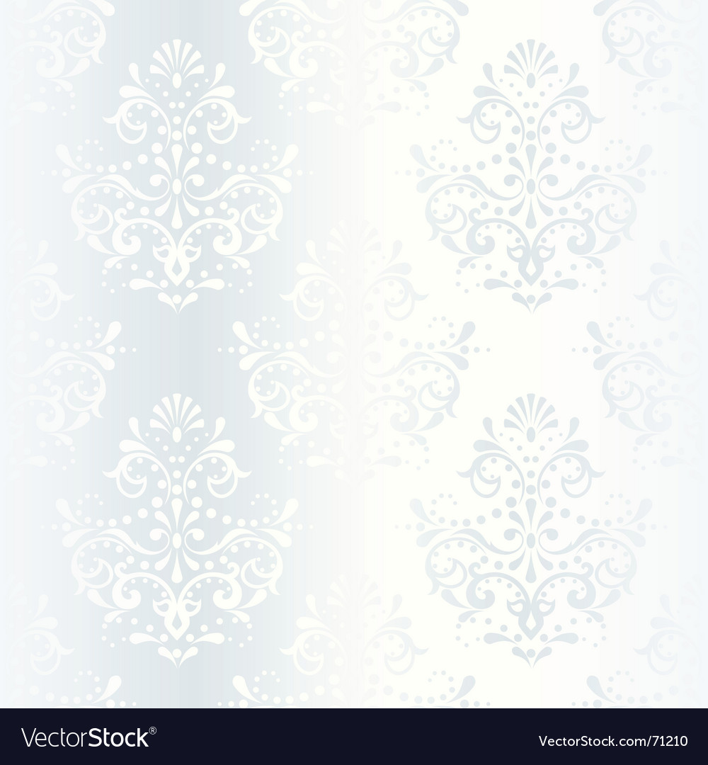 Intricate white satin wedding pattern vector