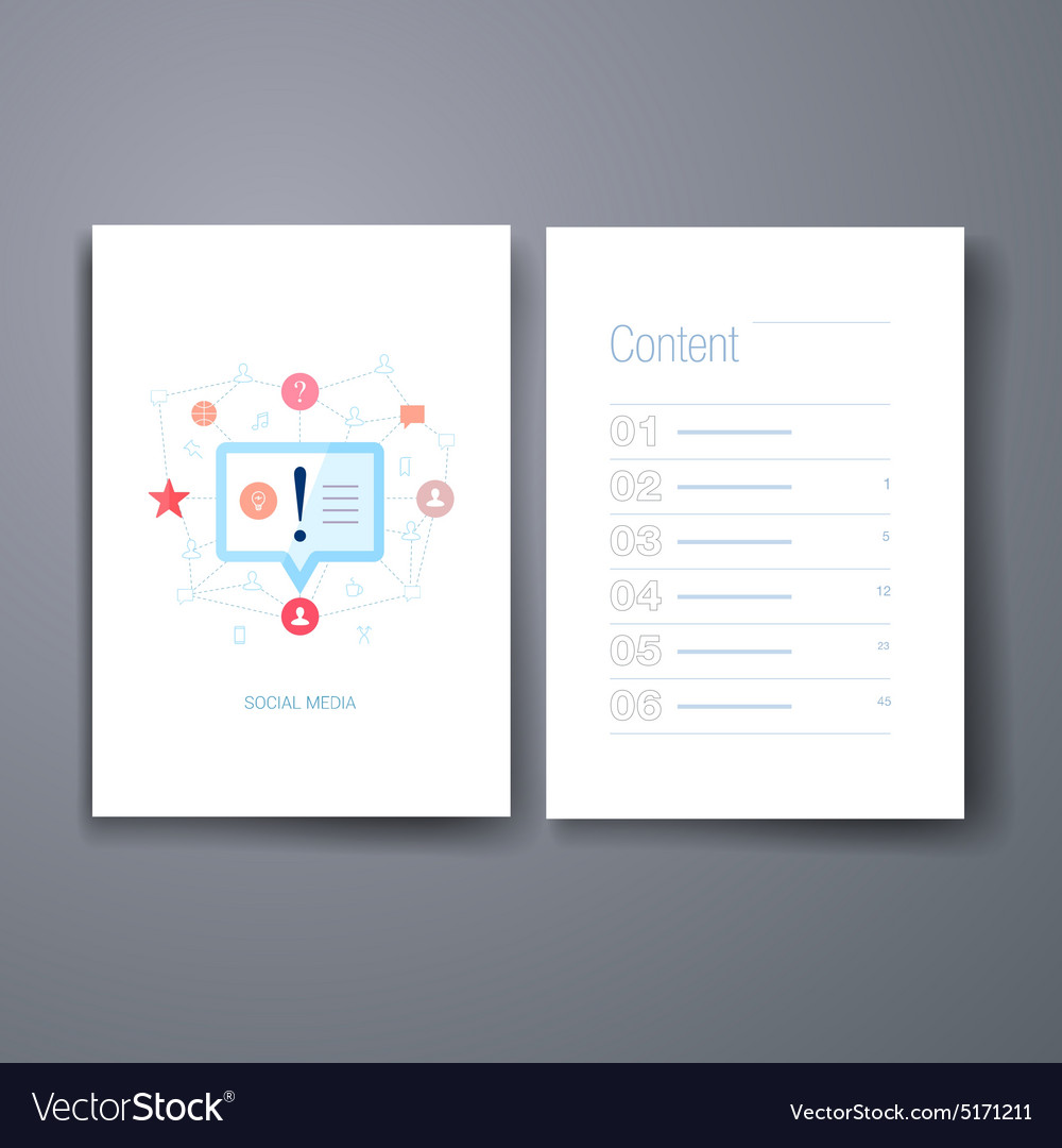 Modern retargeting and mind flat icons cards vector