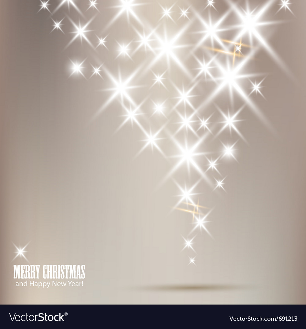 Elegant christmas background with shiny stars and vector