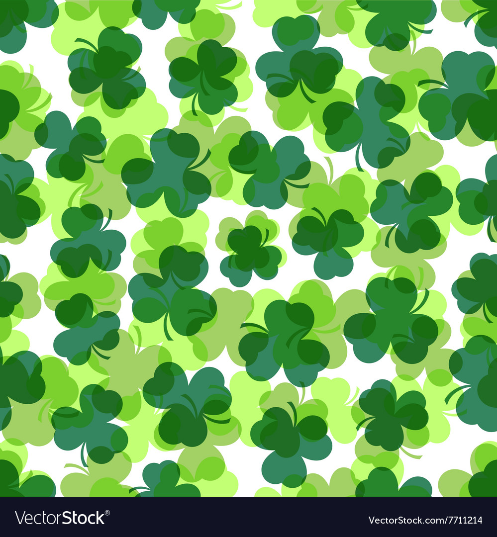 Seamless  green shamrocks vector