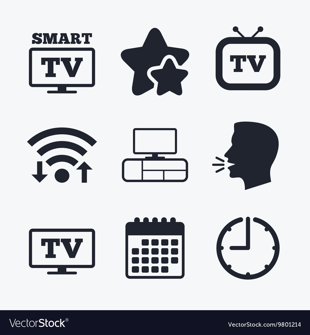 Smart tv mode icon retro television symbol vector