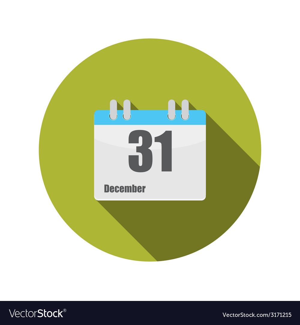 Flat design concept calendar with long shado vector