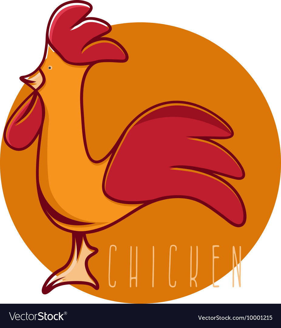 Funny chicken mascot design template vector