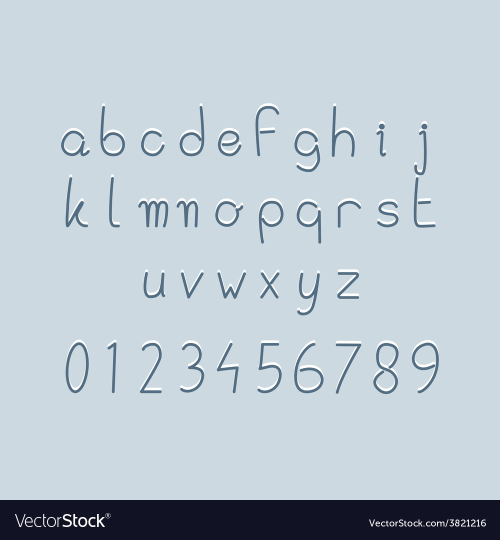 Lettersnumbers vector