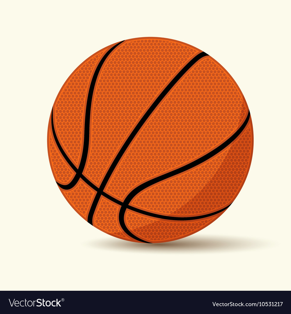 Basketball cartoon style vector