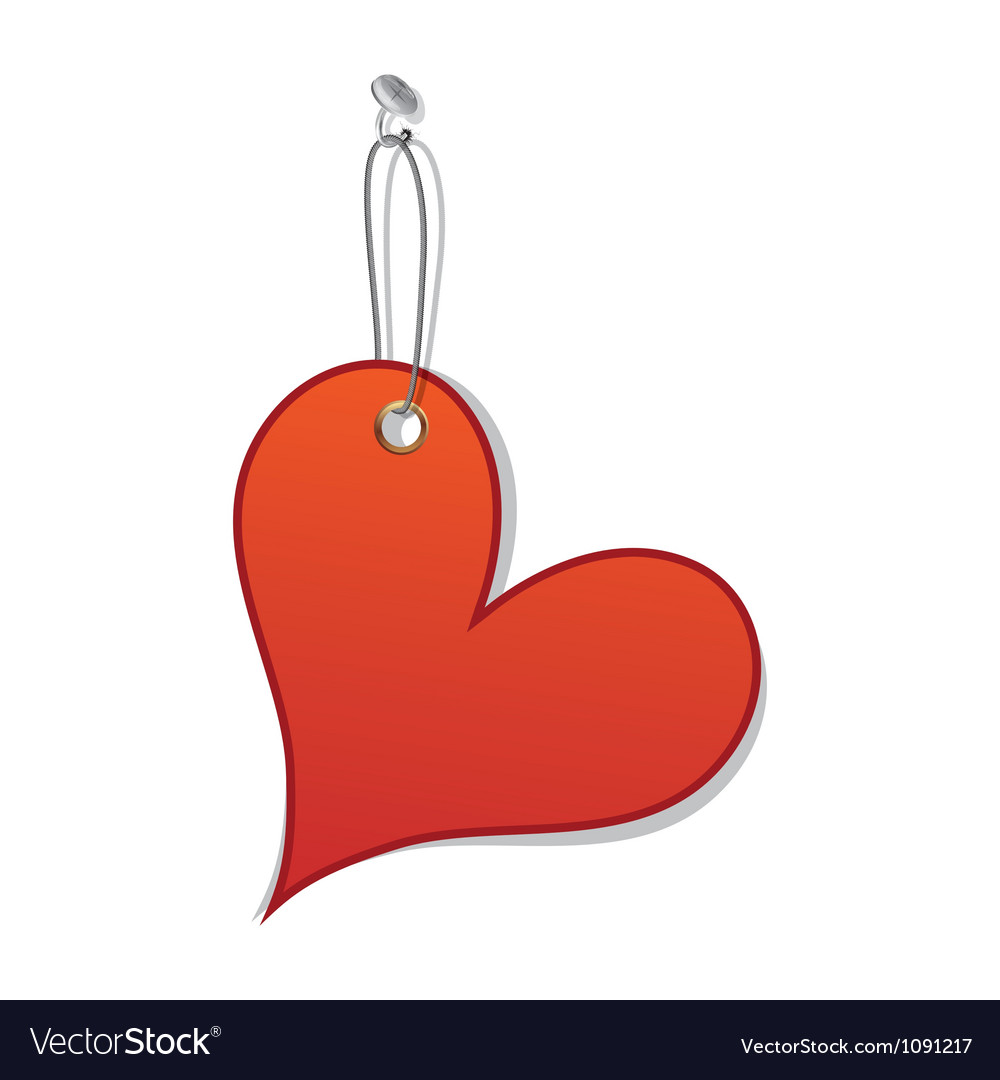 Heart love tag as valentine day symbol vector