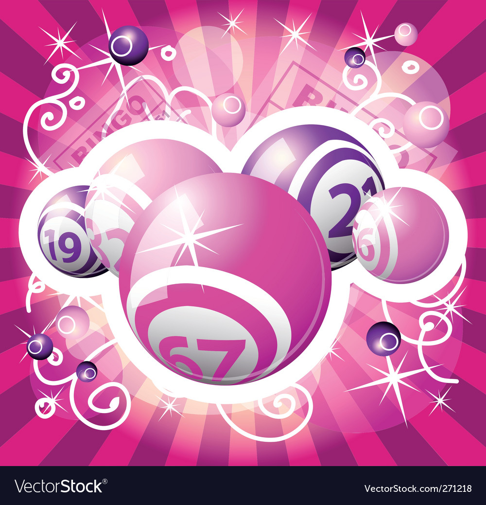 Bingo or lottery pink design vector